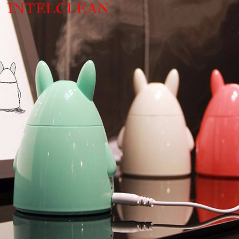Cute Mini <font><b>Rabbit</b></font> Shape USB Ultrasonic <font><b>Air</b></font> Humidifier Essential Oil Aroma Diffuser Home Office Mist Maker Fogger <font><b>Air</b></font> <font><b>Purifier</b></font>