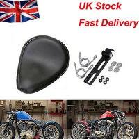 New Motorcycle 3'' Spring Solo Bracket Seat For Chopper Bobber Custom Black BG