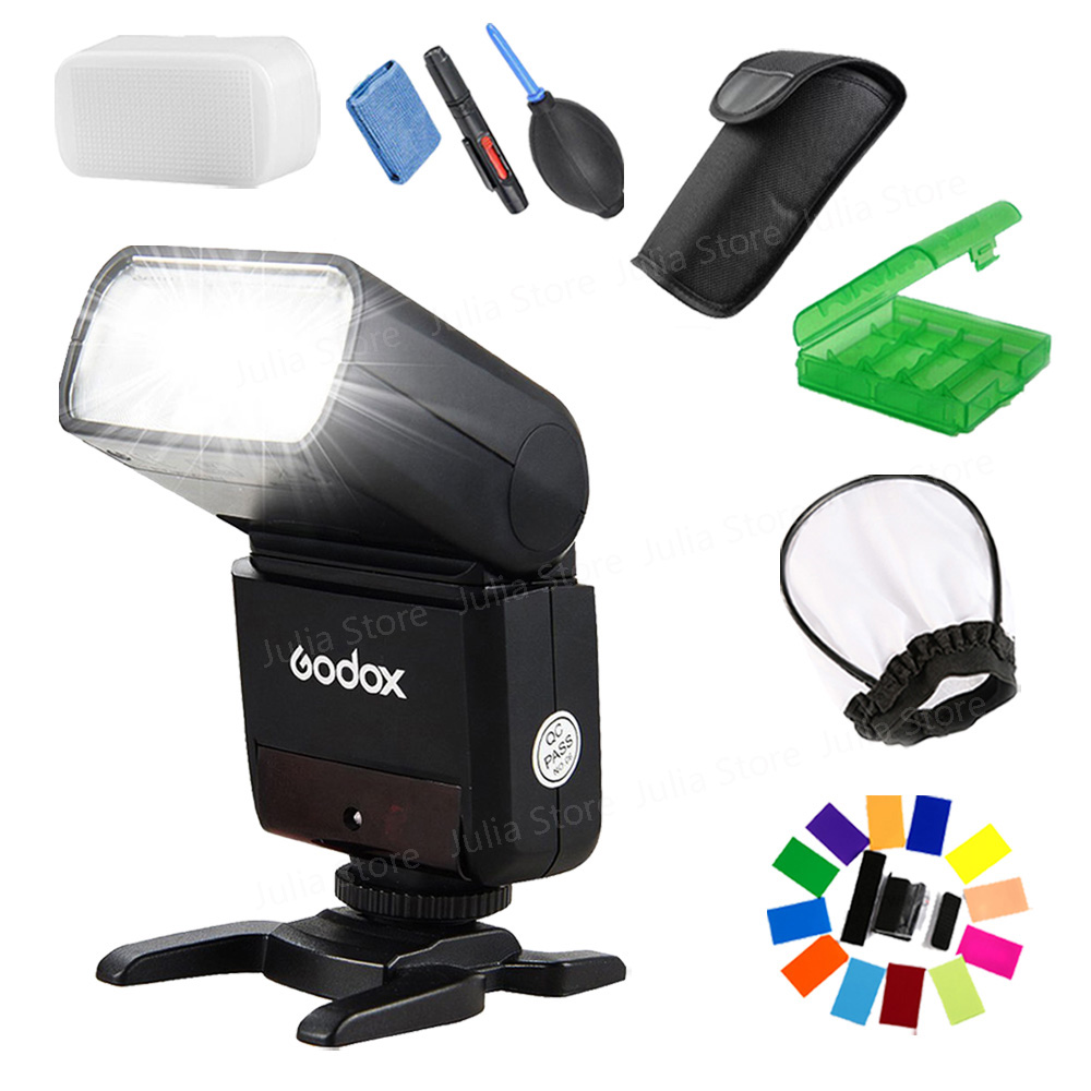 Godox Mini Speedlite TT350S TT350N TT350C TT350O Camera Flash TTL HSS GN36 for Sony Mirrorless DSLR Camera A7 A6000 A6500 Series sony a6500