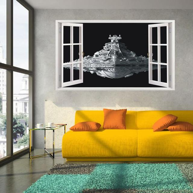 Star Wars Stickers 3d Star Destroyer Waterdichte Wc Muurstickers