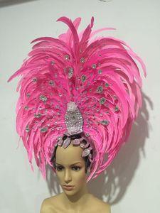Image 2 - Lông Vũ Quần Áo Diễn Sân Khấu Sàn Diễn Carnival Mũ Đội Đầu Hoa Quán Rượu Đảng Nam Nữ