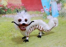chinese white dragon large 32x18cm hard model,polyethylene&furs handicraft Figurines&Miniatures home decoration toy gift a2886