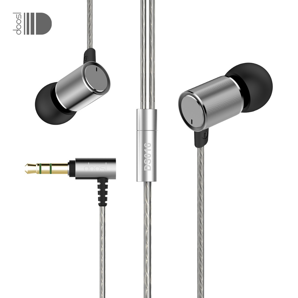 Doosl HiFi Dynamic In-Ear Music Stereo Sport Metal Noise Isolating Earbuds Wired Earphone for iPhone IOS Android Cellphones raysun® metal diamond studded in ear noise isolating headphone earbuds earphone with remote
