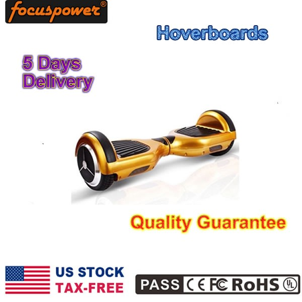 USA Warehouse In Stock NO TAX Segboard 6.5 Adult Self Balance Scooter Sky Walker Board Electric Scooter gold color Fedex ship