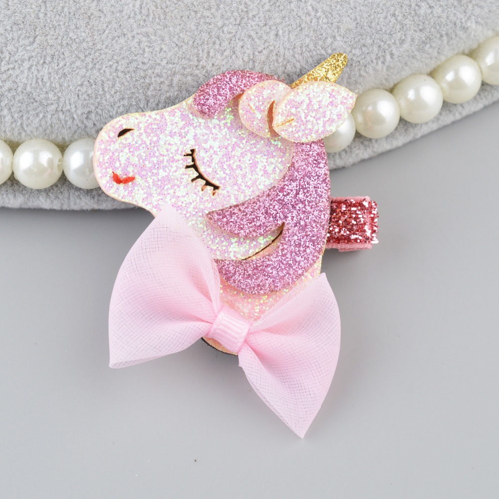 Sequin Fruit Hairpins Unicorn Gilter Hair Clips for Girls Fashion Cartoon Kids Barrettes Hairgrip Hair Accessories Bobby Pin in Hair Accessories from Mother Kids