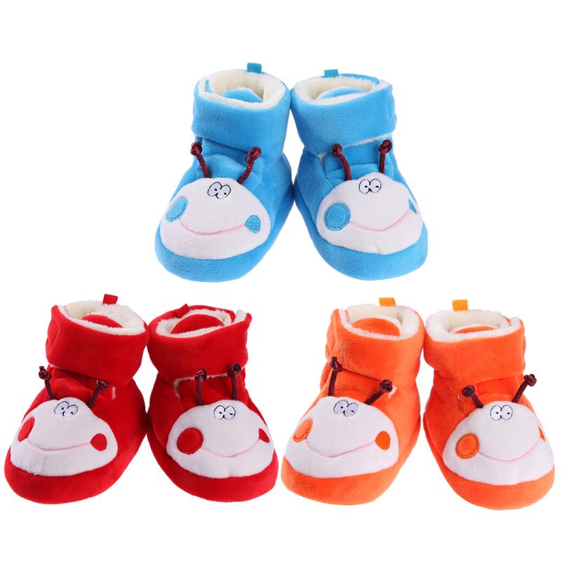 Shoes Toddler Boots First-Walker Soft-Sole Girls Winter Warm Plush