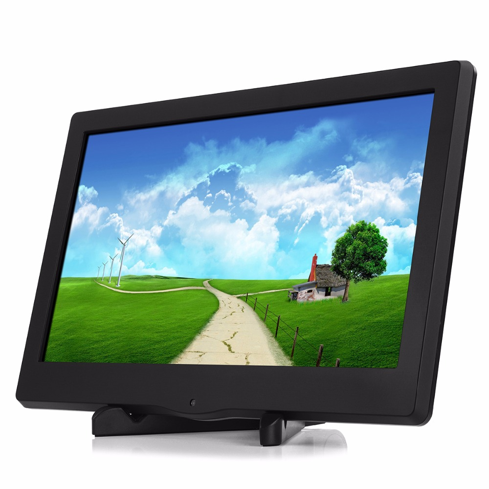 13.3inch 1080P Portable monitor LED display monitor 1920X1080 HDMI/VGA/DVI for PS3 PS4 WiiU Xbox360 Raspberry Pi 3B
