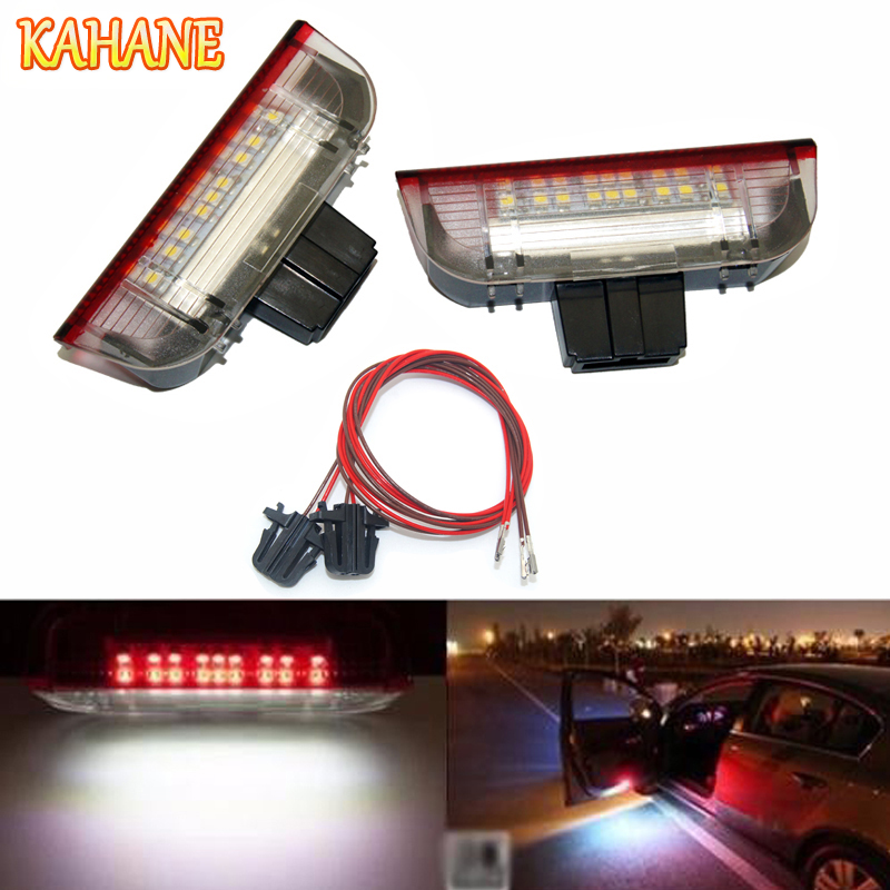 цена на KAHANE 2x LED Car Door Light Under Door Warning Light No Error Courtesy Light FOR VW Golf 5 6 7 Passat B6 B7 Jetta MK5 CC Tiguan