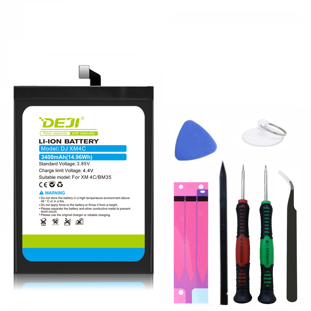 DEJI for <font><b>xiaomi</b></font> 4C battery real capacity <font><b>mi4C</b></font> replacement internal battery with free tool 12 month warranty <font><b>BM35</b></font> image