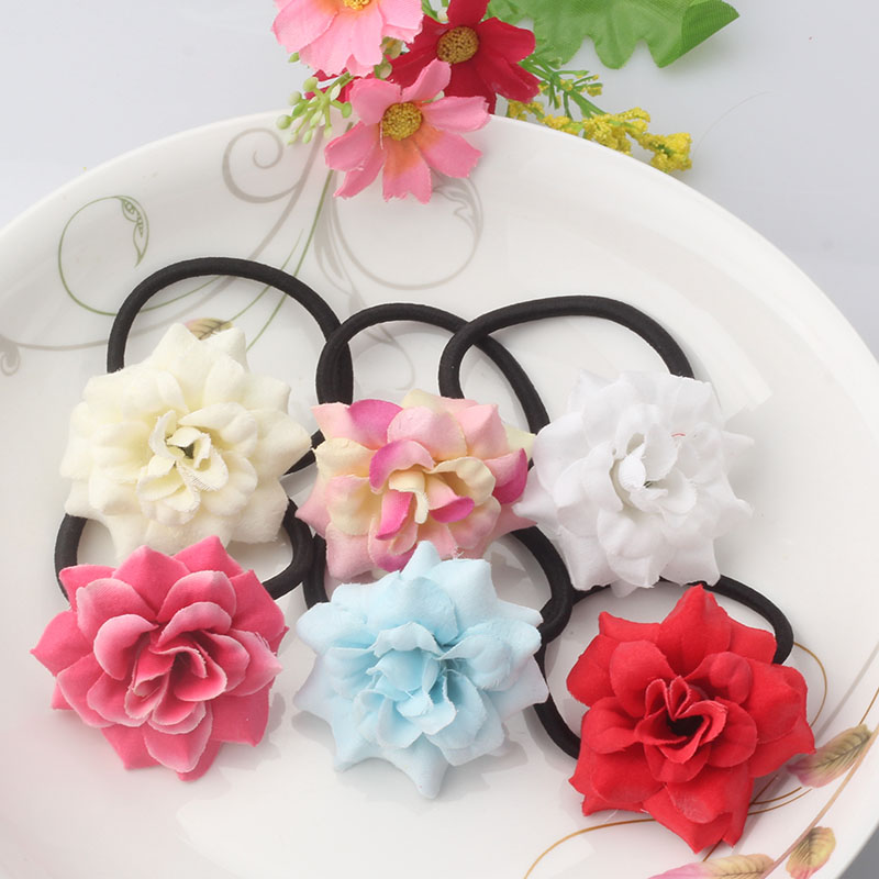 Fast Deliver 1pcs Lovely Rose Pearls Elastic Hair Bands Toys For Girls Handmade Bow Headband Scrunchy Kids Hair Accessories For Womens 2018 Girls' Clothing