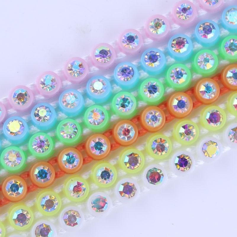 Bandas de diamantes de imitación taidan SS6 para Powwow cuentas de 300 yardas/lote cada color 10 yardas-in Fornituras y componentes de joyería from Joyería y accesorios    2
