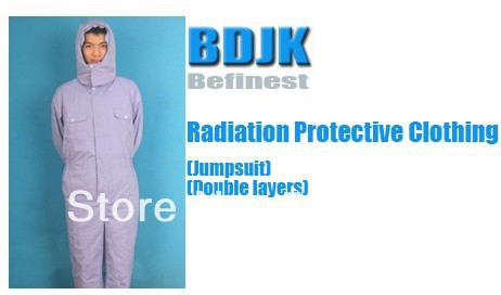 Radiation Protective Clothing Jumpsuit with 2 Layers Fabric Protection Suit and Working Clothes Free ship
