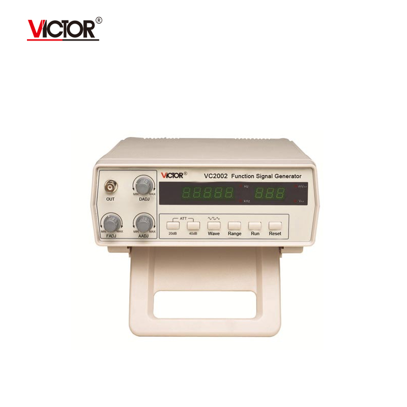 VICTOR VC2002 Function Signal Generator 5 Digits (0.2 Hz ~ 2 MHz) 7 Frequency Digital Function Waveform Generator AC110-220V fast arrival vc2002 signal generator 5 digits 0 2 hz 2 mhz 7 frequency digital function waveform generator ac110 220v