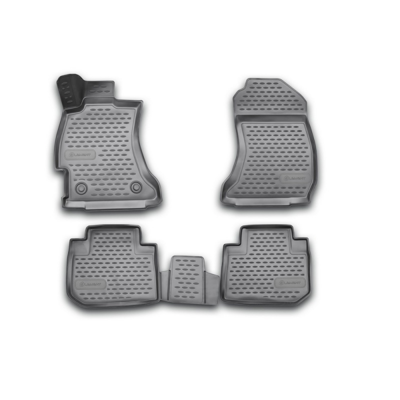 Car Mats 3D salon For SUBARU Forester, 2013-2018, 4 PCs (polyurethane) huier hand sew car steering wheel cover black leather for subaru forester 2013 2015 legacy 2013 2014 outback 2013 2014 xv 2013
