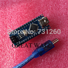 50set = 50pcs Nano 3.0+50pcs USB Cable ATmega328 Mini-USB Board CH340G for arduino