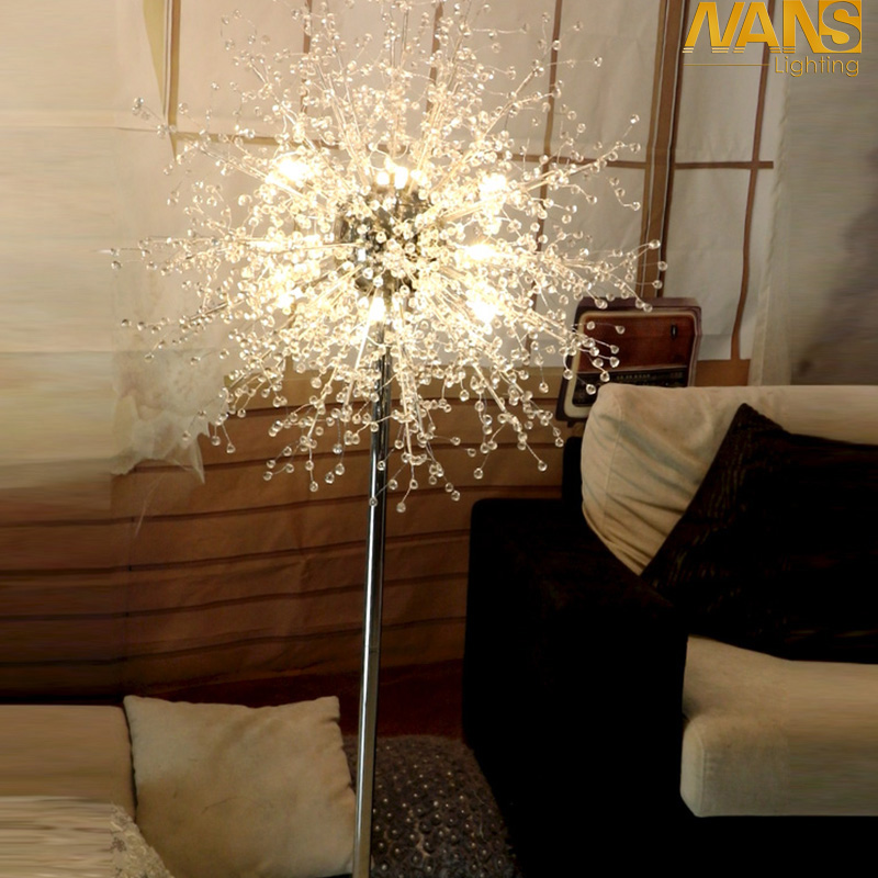 living room standing light wooden sofa set designs for small aliexpress com modern floor lamp contemporary nans design acrylic lamps g4 led reading bedside bedroon