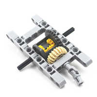 MOC blöcke Technik Teile 1 SATZ Technik GERAHMTE DIFFERENTIAL GEAR SET Kit Pack Chassis Part Chassis Teil Kompatibel Mit Lego