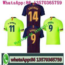 8bc6c32826 2018 Barcelonas SUAREZ O.DEMBELE Jerseys Camisas Coutinho Messi INIESTA  PIQUE Soccer t-shirts