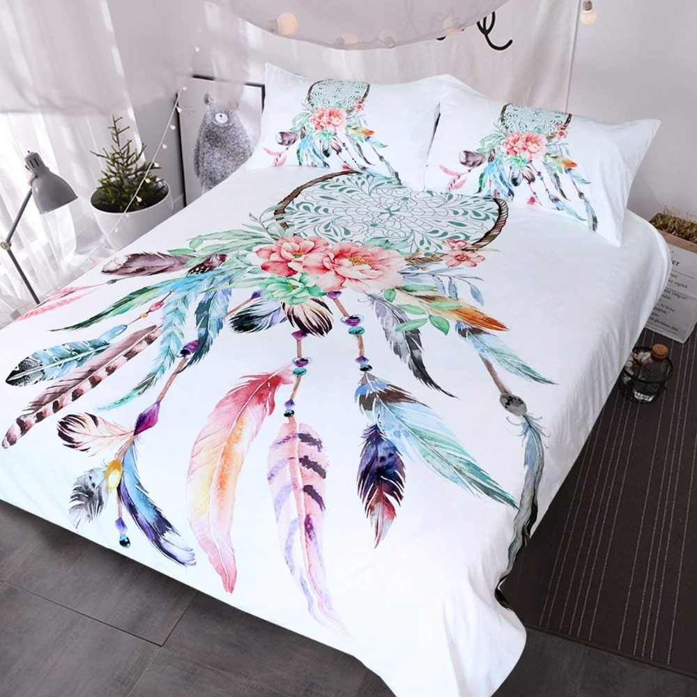Bettwaren Wäsche Matratzen Dream Catcher Comforter Or Duvet Cover Hippy Bedding Boho Chic Bedding Möbel Wohnen Blowmind Com Br