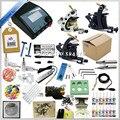 Alta qualidade Conjuntos de Equipamentos Rotary Máquina 3 Armas de Tatuagem Kit Completo + Tinta + Alimentação + Agulha + CD para Iniciantes Da Arte Do Corpo