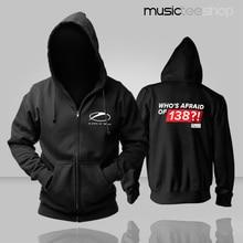 Herbst und winter männer oberbekleidung hoodies DJ Armin Van Buuren, Die angst vor 138 mens zipper strickjacke sweatshirts musik mantel