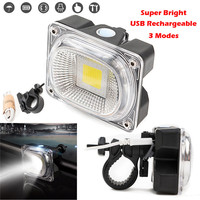 Super Bright Rechargeable LED Bike Light Bicycle Lamp Front Light USB New White Bicycle Lights