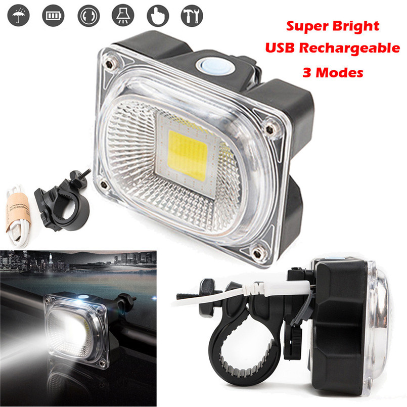 Dynamic 3 Led Cycling Bicycle Bike Head Front With Usb Rechargeable Tail Clip Light Lamp Cycling