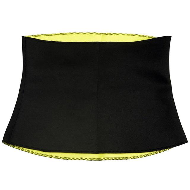 Fashion Neoprene Sauna Sweat Belt Fitness Stretch Waist Trainer Body Shaper Tummy Cincher Corset Slim Belly Binder Trans 5