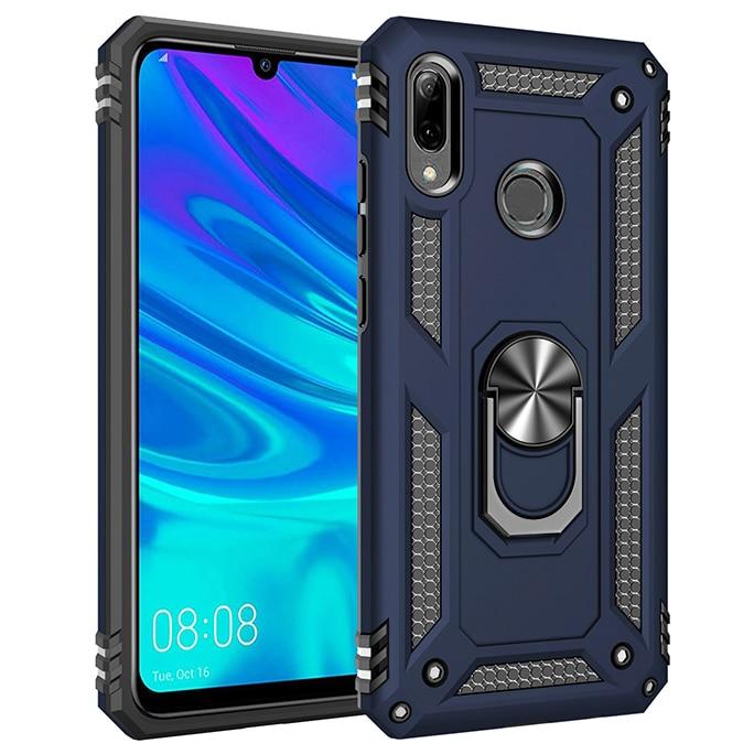 Armure étui pour Huawei P Smart 2019 Cas Doigt Magnétique porte-anneau Protection Pare-chocs Couverture Arrière Pour Huawei P Smart 2019 Cas