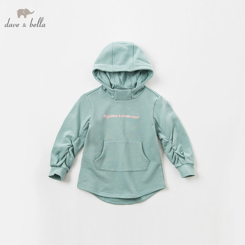 DBK8389 dave bella kids 5Y-13Y hooded dress children autumn high quality dresses baby long sleeve clothing kids brand clothes high quality dresses and coat winter autumn baby wear clothes girls clothing long sleeve warm children dress child clothing