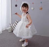 Vintage Off White Bowknots Baby Girl Christening Dress Princess Wedding Party Newborn Baptism Gown Outfit