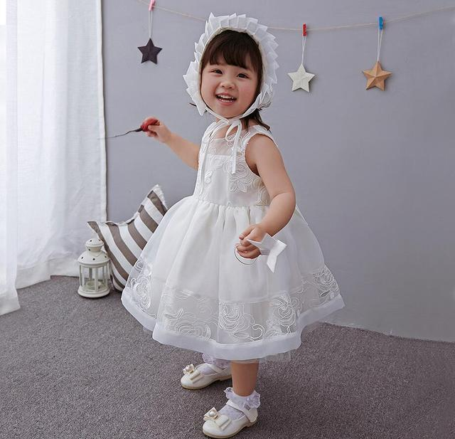 Vintage Off White Bowknots Baby Madchen Taufe Dress Prinzessin