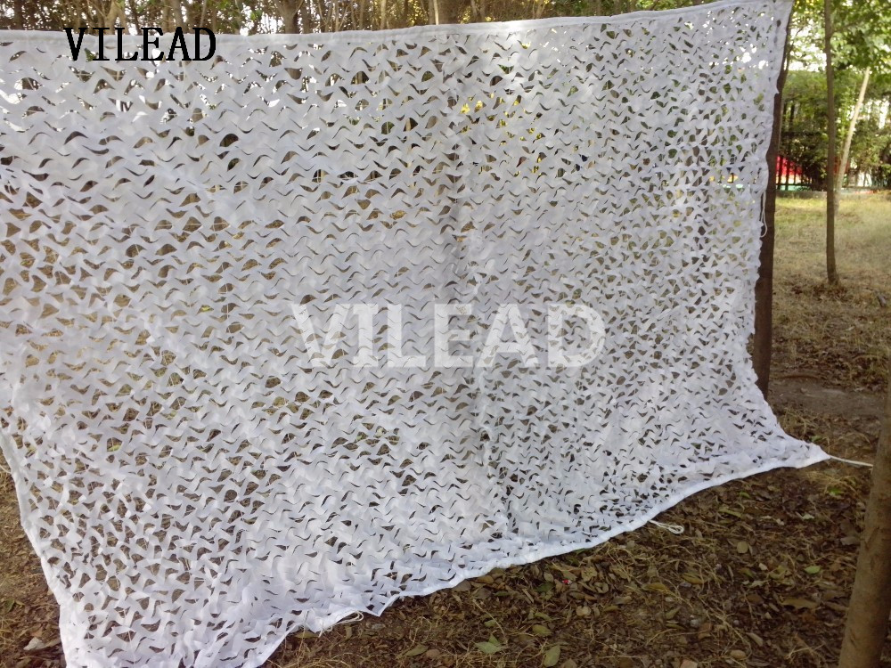 VILEAD 4M*4M Military Car Drop Hunting Camping Military White Camouflage Net Camo Cover for Hunting Home Decoration