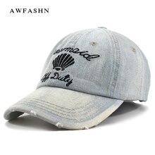 306a9e525461b Shell bordado bonés de beisebol denim chapéus carta abacaxi homem mulher  moda de alta qualidade calças