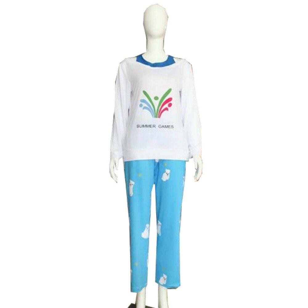 2018 Ow Kawaii Mei jeux d'été chandail CG monter et briller Cosplay pyjamas Meiling Zhou Costume Mei ours polaire pantalon