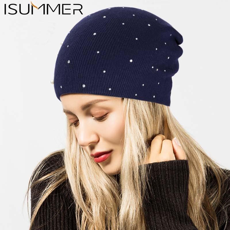0f2968fc6d2bf7 Women's Skullies & Beanies Autumn Winter Outdoor High Quality Women Hats  With Diamond Crochet Hat For Women Fashion Warm Winter Head Cap Girl  Beanies Cap