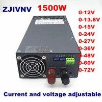 S 1500W Switching Power Supply,voltage and current adjustable Ac Dc Power Supply Transformer DC12V 13.8V 24V 27V 36V 48V 60V 72V
