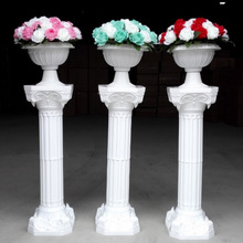 2pcs/lot Plastic Roman Column Fashion Wedding Props Decorative Columns White Color Pillars Road Cited Party Event