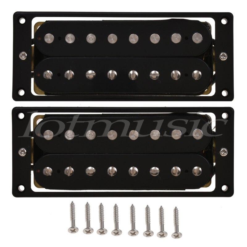 8 cordes pick-up Humbucker Double bobine micros guitare électrique pièces accessoires pont cou ensemble noir