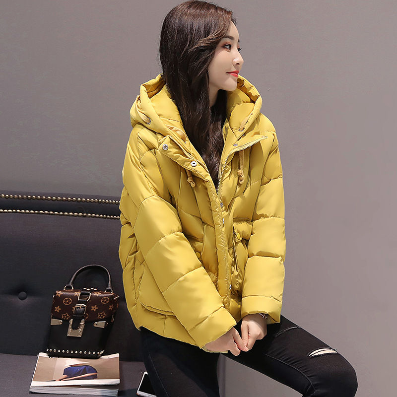 Fashion Girls Womens Autumn Winter Clothes Ladies Outerwear Maternity Coats Student Style Cotton Down Jacket Short/Zipper Hooded