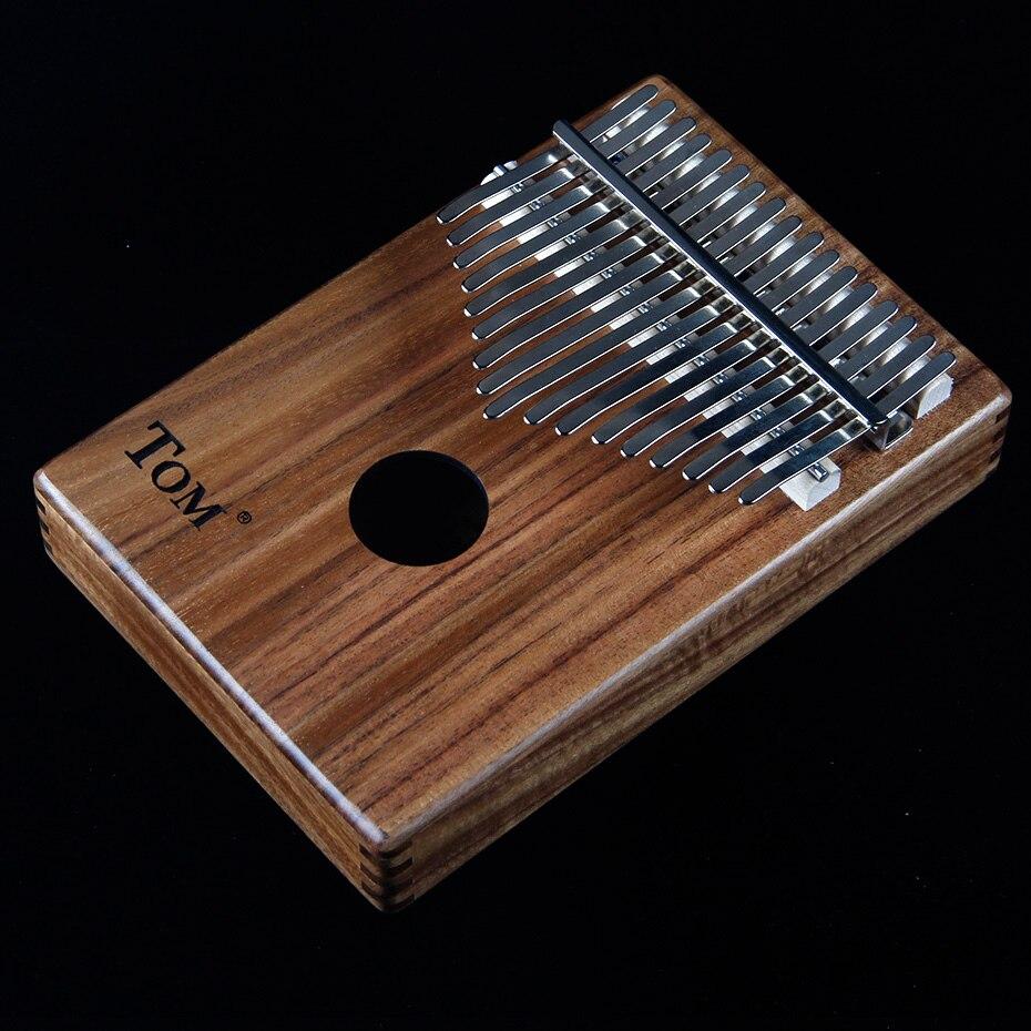 BATESMUSIC planche unique Kalimba pouce Piano17 sons en bois Portable doigt Piano ACACIA bois - 2