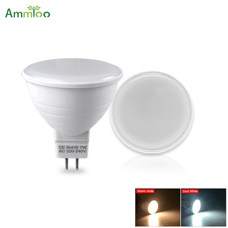 MR16 LED Bulb lamp 5W 7W LED Spotlight Bulb NON- Dimmable 220V SMD2835 Spot light Indoor WhiteWarm white lighting 12024 degree