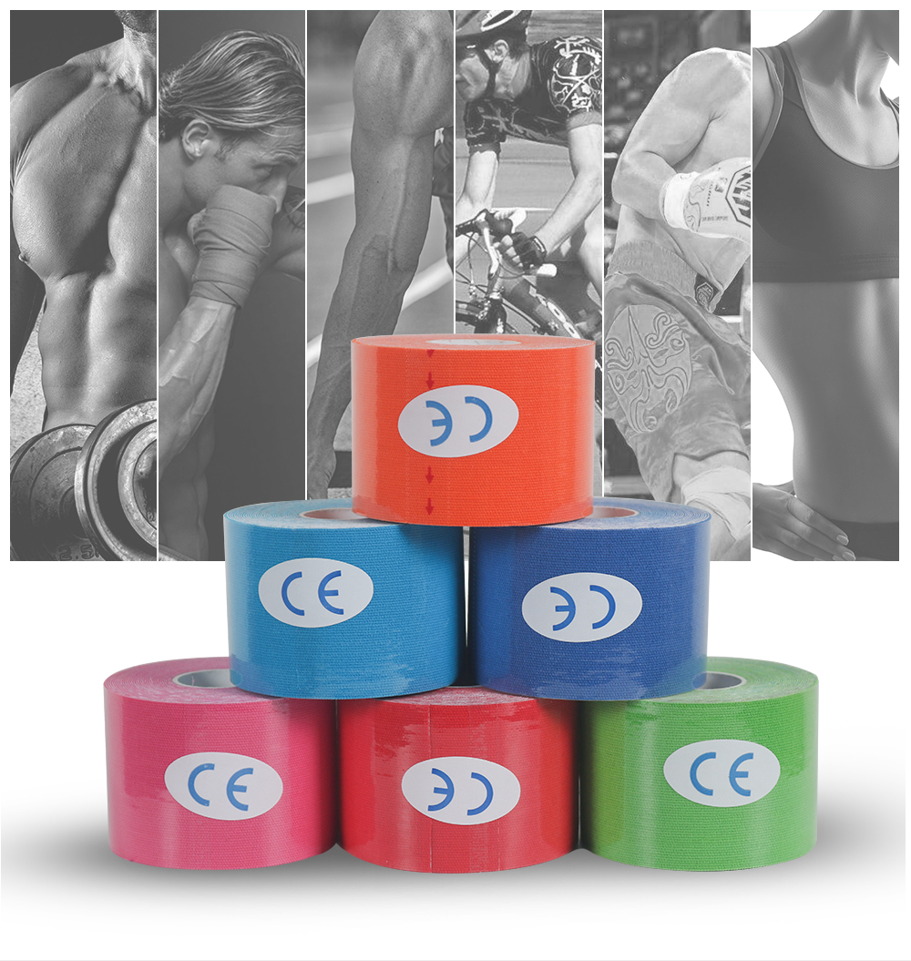 1pc 5M Kinesiology Tape Muscle Bandage Roll Cotton Elastic Knee Tape Kinesiology Waterproof Sports Fitness Gym Tape Muscle Pain