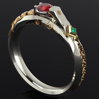 LOL Maters Jewelry Ezreal Ring Luxury Khada Jhin Ring With Stone