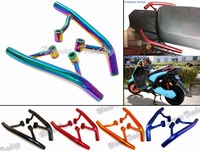 waase Tail Rear Seat Pillion Passenger Grab Rail Bar Handle Rack Bracket For 2009 2015 YAMAHA Zuma BWS YW 125 YW125