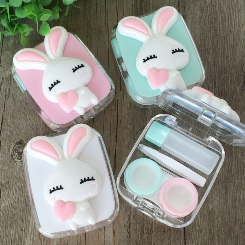 Cute Fashion Travel Glasses Contact Lenses Box Contact Lens Case For Eyes Care Kit Holder Container