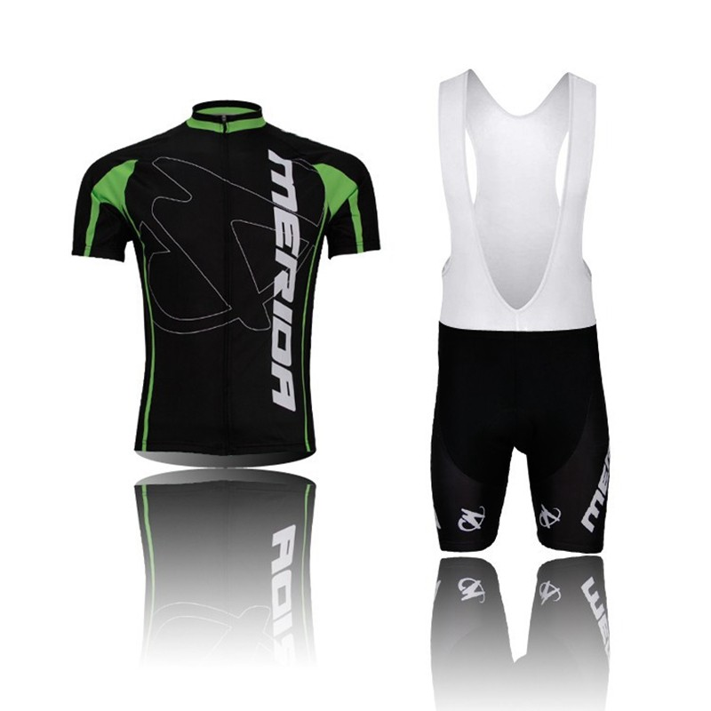цены  2016 Pro Team Merida Bike Cycling clothing/Cycling wear/ Cycling jersey Bicycle Sportswear Short Sleeve Suite Green Black