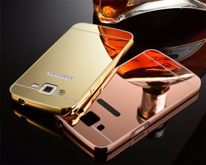 official photos 6e121 5c439 US $3.15 |Luxury Aluminum Metal Frame Mirror Acrylic Back Cover Case For  Samsung Galaxy Grand 2 G7102 SM G7102 7102 DUOS Case Deluxe funda on ...
