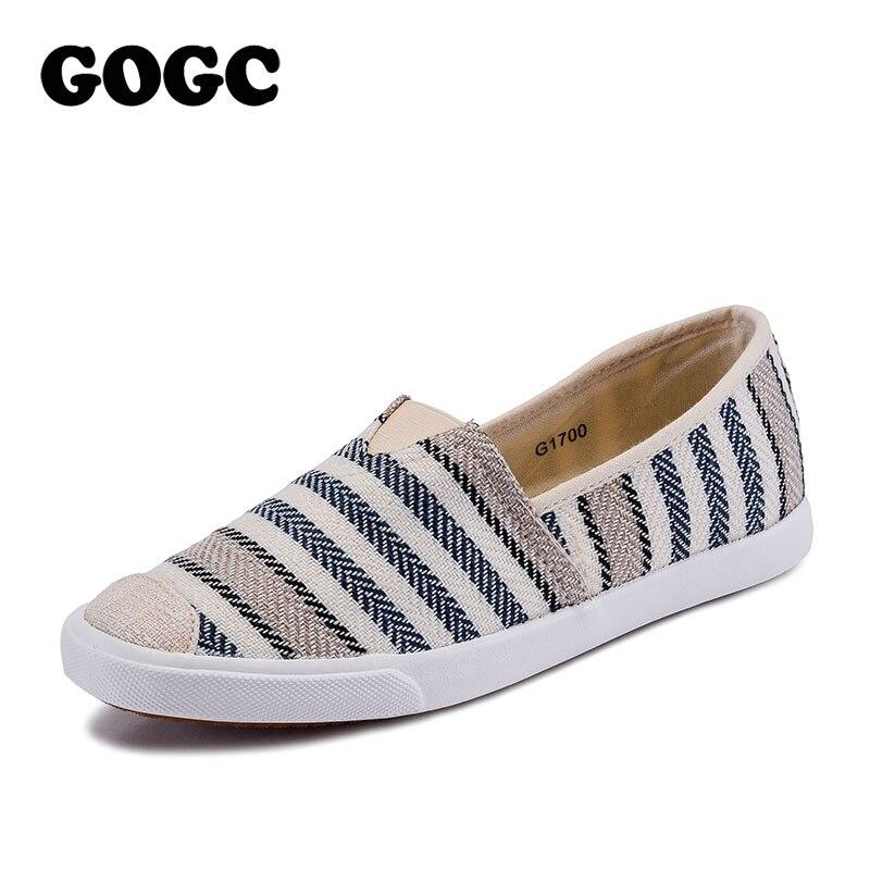 GOGC 2018 Fashion Canvas Shoes Slipony Women Footwear Female Comfort Slipony Women Shoes Casual Shoes Sneakers Women