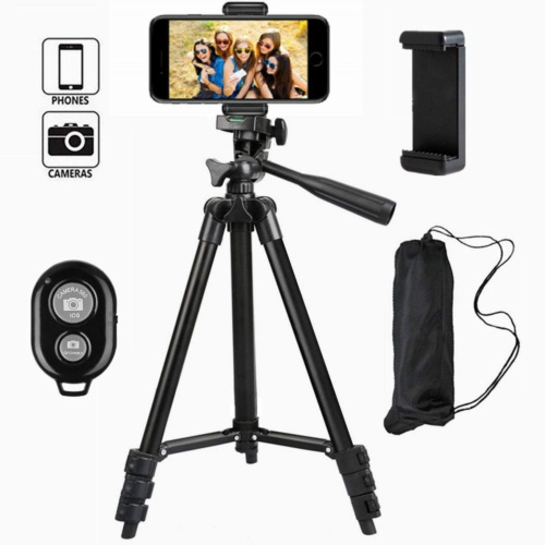 3in1 1set 3110 3120 Camcorder Digital Camera Tripod + Phone Holder Stand+ <font><b>Bluetooth</b></font> <font><b>Remote</b></font> <font><b>Shutter</b></font> <font><b>Control</b></font> For Nikon Canon image